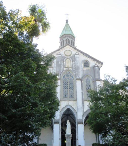 大浦天主堂外觀。