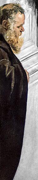 (圖7)《聖馬可奇蹟解救奴隸》(局部),丁托列托,1548,帆布油畫,高4.15米,寬5.41 米 ,威尼斯學院美術館。(Miracle of St Mark Freeing the Slave, Tintoretto, Gallerie dell' Accademia, Venice)