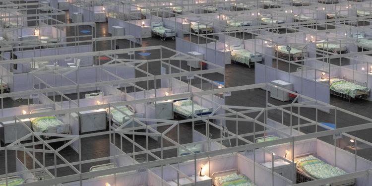 截至8月3日中午12時,有56人在亞博館社區隔離設施接受治療。(亞新社)
