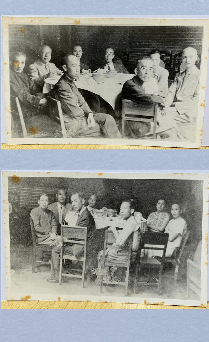 【組圖十四】傅秉常與眾人合照,另一張是其家眷。1949年攝於廣東南海居仁里。(楊永安博士藏)