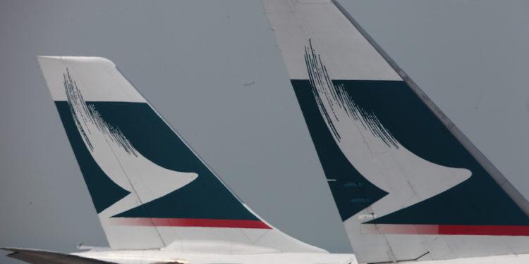 國泰減少了超過90%的航班,已大大削弱了香港作為空運轉口港的能力。(亞新社)