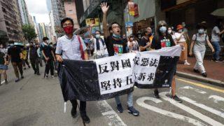 胡志偉、梁國雄、朱凱廸、陳皓桓等8人被捕 涉七一非法遊行