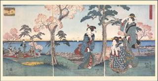 蔵於東京都立中央圖書館特別文庫室的「御殿山花見之圖」。