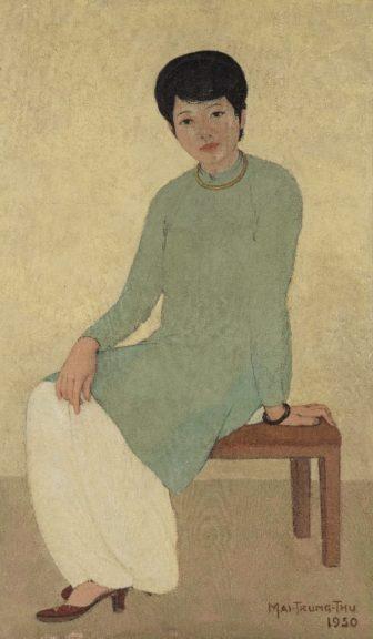 越南藝術家梅忠恕《芳小姐的肖像》以近2500萬港幣成交,刷新越南藝術品拍賣記錄。