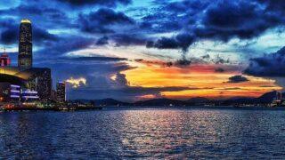 日落維港 Sunset over Victoria Harbour