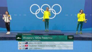 何詩蓓再奪奧運銀牌  百米自由泳刷新亞洲紀錄