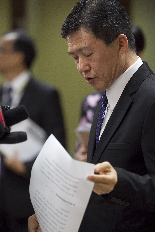 白韞六指「其實在最開始的十多年,我們已經將香港的貪污問題基本解決了。」(亞新社)