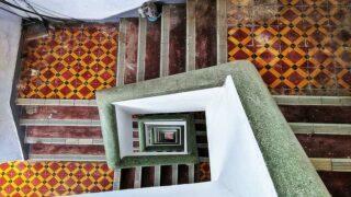 大坑唐樓的精美地磚和水磨石扶手  Exquisite Floor Tiles and Terrazzo Handrails of Tai Hang Tenement
