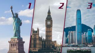 全球金融中心排名  紐約第一倫敦居次  香港勉強保住第三