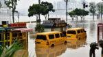 雨門開,中國中原大水